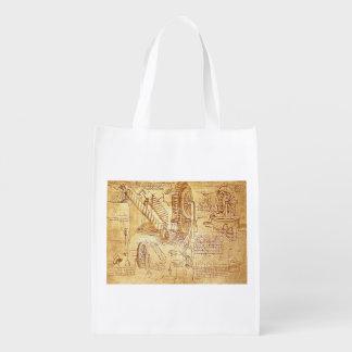 As notas de da Vinci Sacolas Reusáveis