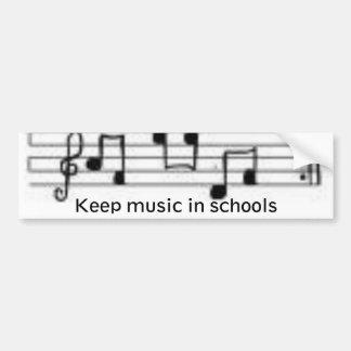 as notas, mantêm a música nas escolas adesivo