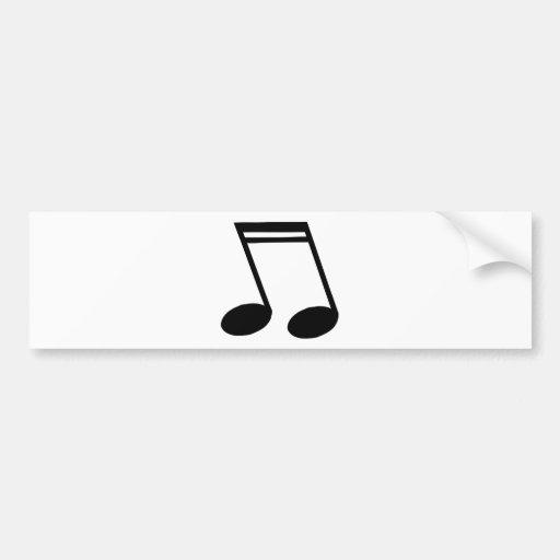 As notas musicais irradiaram Semiquavers Adesivos