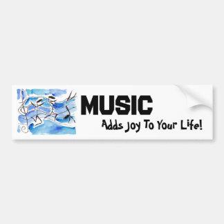 As notas musicais vêm à música da vida adicionam a adesivo para carro