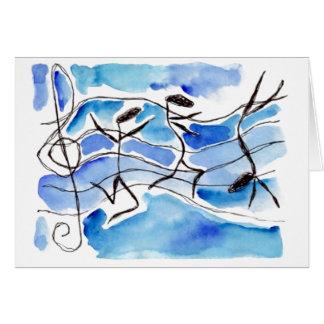 As notas musicais vêm à música da vida adicionam a cartão de nota