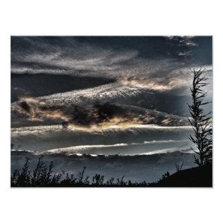 As nuvens da obscuridade impressão de foto