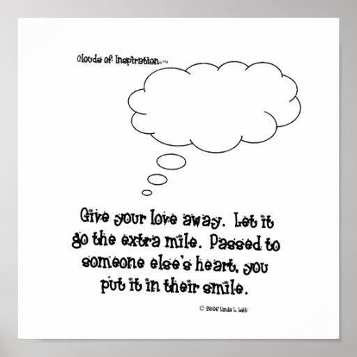 as nuvens do inspiration™ dão seu amor afastado posteres