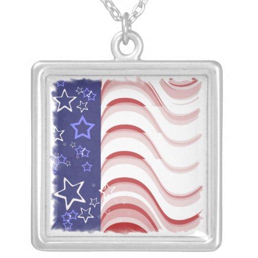 As ondas patrióticas n Stars a colar do pendente