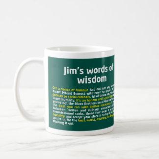 As palavras de Jim da caneca da sabedoria
