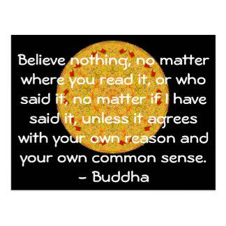 As palavras sábias da sabedoria do Buddha citam Cartão Postal