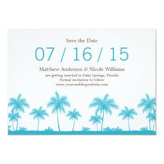 As palmeiras azuis da cerceta tropical salvar a convites personalizados