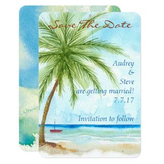 As palmeiras salvar o cartão de data