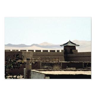 As paredes da cidade antiga imitada de Huang do Convite 12.7 X 17.78cm