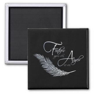 As penas aparecem quando os anjos estão próximo ímã quadrado