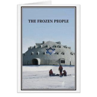As pessoas congeladas de cartão de Natal judaico