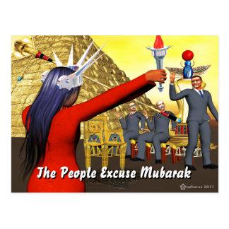 As pessoas da desculpa Mubarak Cartão Postal