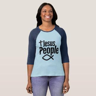 As pessoas das mulheres de Jesus camisa do Raglan