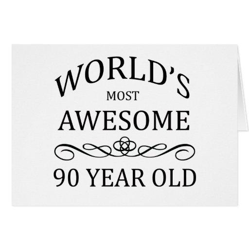As pessoas de 90 anos as mais impressionantes do m cartao