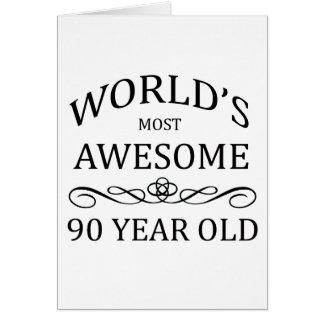 As pessoas de 90 anos as mais impressionantes do m cartão comemorativo