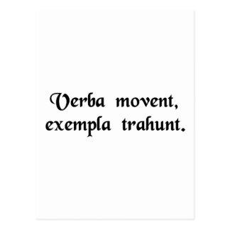 As pessoas do movimento das palavras, exemplos cartão postal