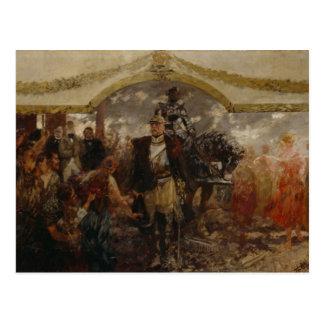 As pessoas rendem a homenagem a Bismarck, 1911 Cartão Postal