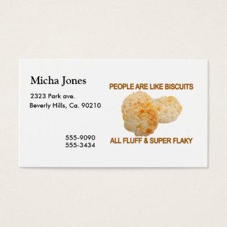 As pessoas são como biscoitos cartão de visitas