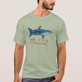 As piadas do tubarão são camisa dos homens de