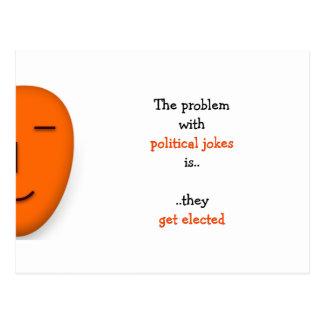 As piadas políticas obtêm a   eleito o cartão