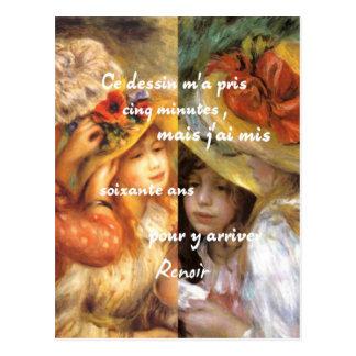 As pinturas de Renoir são abundância do amor Cartão Postal