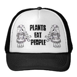 As plantas comem pessoas do chapéu do camionista boné