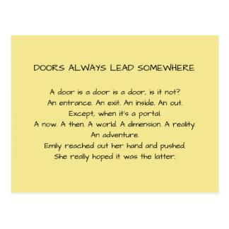 As portas conduzem sempre em algum lugar o cartão
