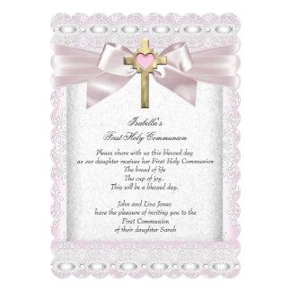 As primeiras meninas do comunhão santamente ?as convite 12.7 x 17.78cm