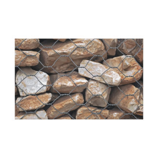 As rochas e o fio esticaram a cópia das canvas impressão de canvas esticada