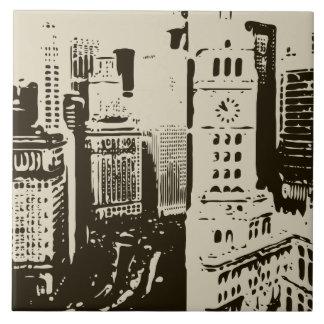 As ruas apressando-se da Nova Iorque Azulejo