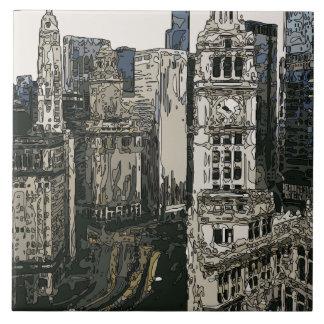 As ruas apressando-se da Nova Iorque Azulejo De Cerâmica