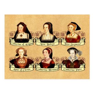 As seis esposas do clássico de Henry VIII Cartão Postal