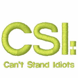 As senhoras bordaram a camisa CSI: Não pode estar