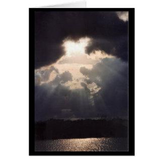 As sombras do céu cartão comemorativo