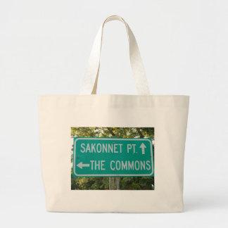 As terras comuns, ponto de Sakonnet - Compton Sacola Tote Jumbo