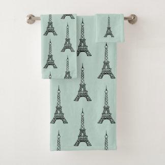 As toalhas de banho da torre Eiffel de Paris da