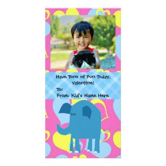 As toneladas de divertimento, elefante caçoam o cartoes com foto personalizados