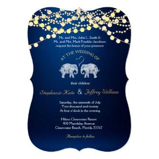 As TONELADAS de noite de LOVE/Elephant iluminam Convite 12.7 X 17.78cm
