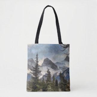 As três irmãs - montanhas rochosas canadenses bolsa tote
