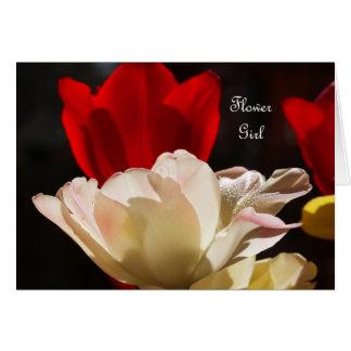 As tulipas querem-no sejam meu florista? Cartão