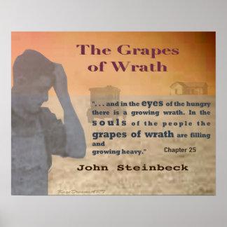 As uvas do Wrath Pôster
