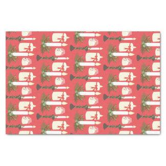 As velas festivas imprimem o vermelho papel de seda