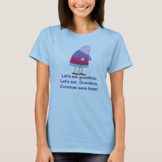 As vírgulas salvar a camiseta das vidas para