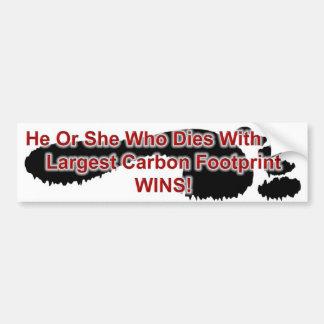 As vitórias as maiores da pegada do carbono adesivo para carro