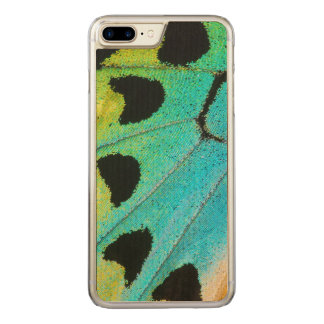 asa azul e verde da borboleta capa iPhone 8 plus/ 7 plus carved