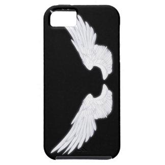 Asas brancas do anjo de Falln Capa Tough Para iPhone 5