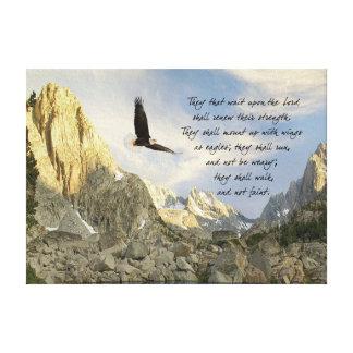 Asas como Eagles Isaiah 4o Impressão Em Tela