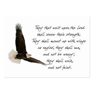 Asas como o costume inspirado de Eagles Isaiah 40 Cartão De Visita Grande