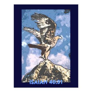 Asas de Eagles - 40:31 de Isaiah Panfletos Personalizados