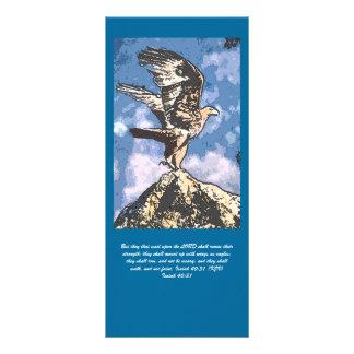 Asas de Eagles - 40:31 de Isaiah 10.16 X 22.86cm Panfleto